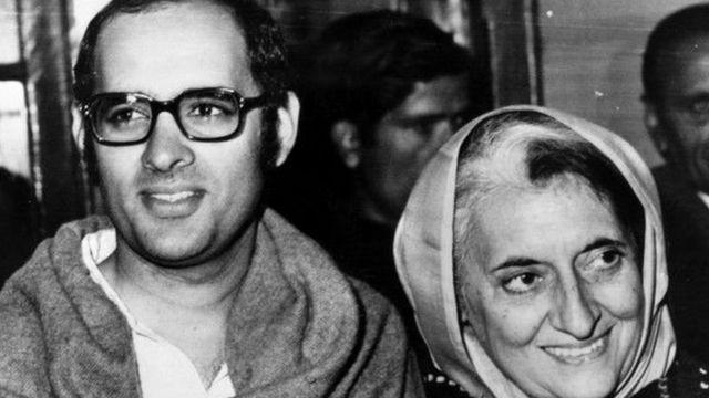 संजय गांधी और इंदिरा गांधी