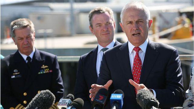 Australian Prime Minister Malcolm Turnbull speaks at an announcement
