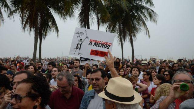 Ato por eleições diretas e contra Michel Temer no Rio