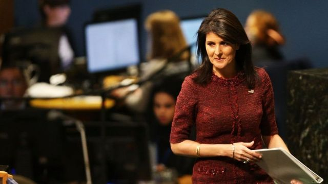 Duta Besar AS untuk PBB, Nikki Haley