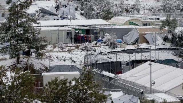 مخيم للمهاجرين في جزيرة ليسبوس اليونانية