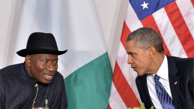 Goodluck Jonathan ati Barack Obama