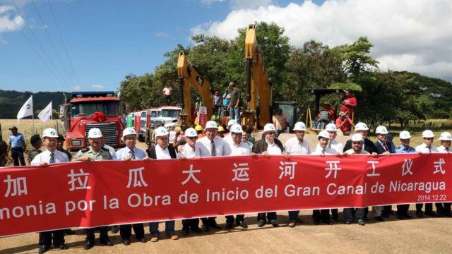 Obras inaugurales del canal de Nicaragua