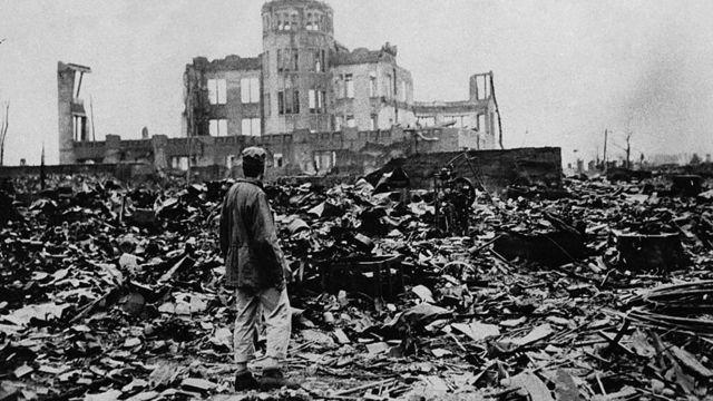 Devastación causada por la bomba de Hiroshima.