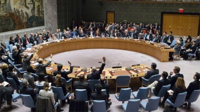 Votación del Consejo de Seguridad de la ONU.
