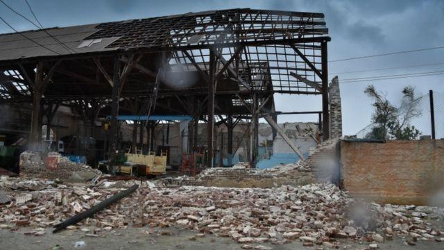 Edificio destrozado por Irma en Caibarién, Cuba