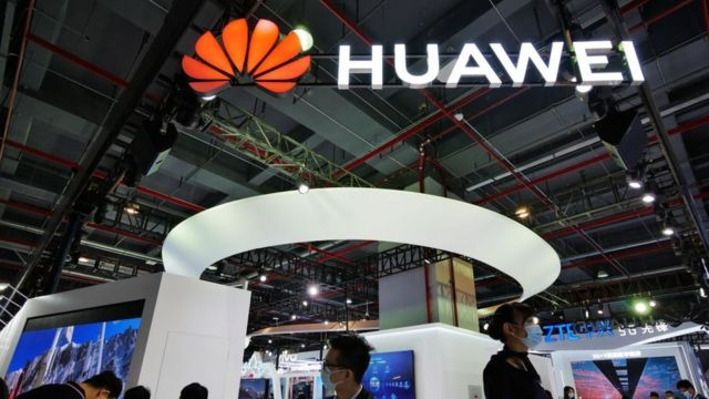 Huawei stall at mobile congress.