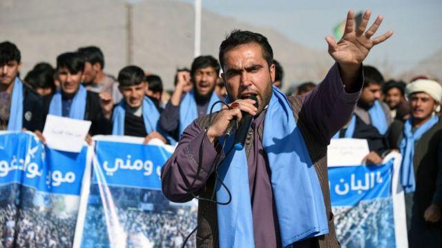 Masu zanga-zangar People's Peace Movement a Kandahar -a watan Junairu 2019