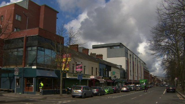 The incident happened on the Ormeau Road in Belfast on Tuesday