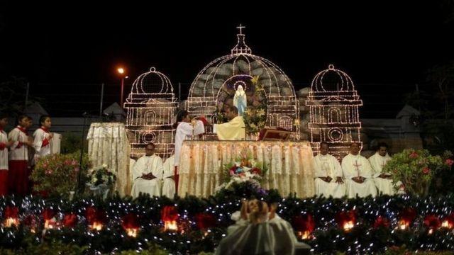 Misa perayaan Natal di Dubai, Uni Emirat Arab.