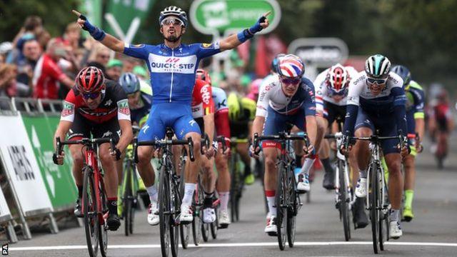 Tour of Britain 2018: Alaphilippe wins third Tour of Britain stage - BBC  Sport