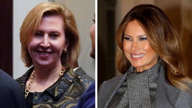 Мира Рикардел и Мелания Трамп