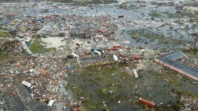 Devastación en las islas Ábaco.