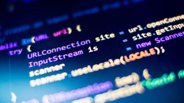 电脑屏幕上展示的Java程序码