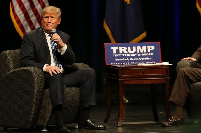トランプ氏は共和党からの立候補者の中で支持率トップを維持している