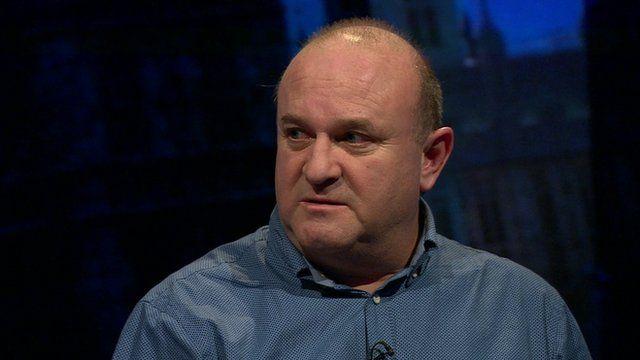 Ray Johnson speaking on Newsnight