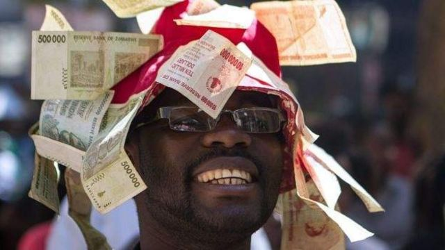 Zimbabwe's old currency became absolutely worthless