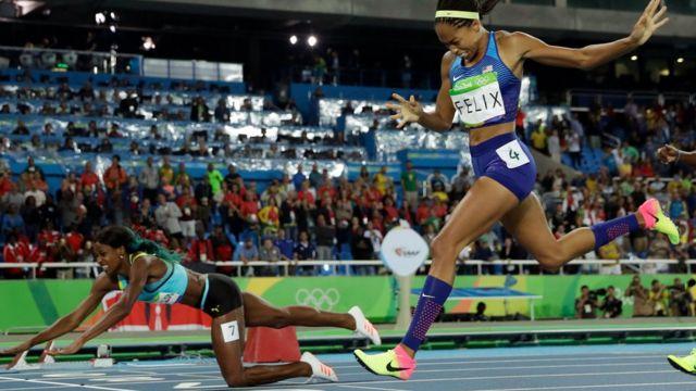Felix estuvo a punto de ganar el oro en 400 metros