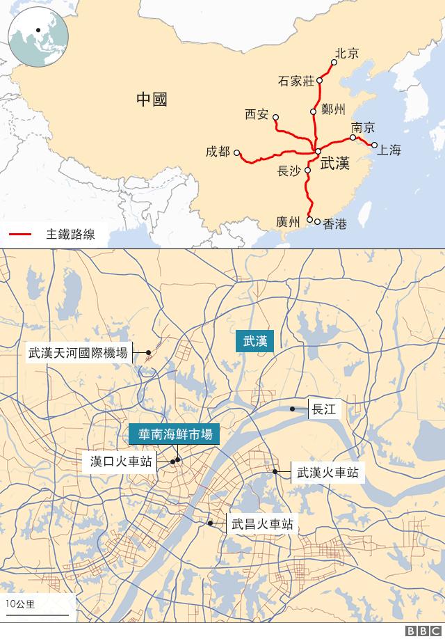 武汉火车站及主铁路图