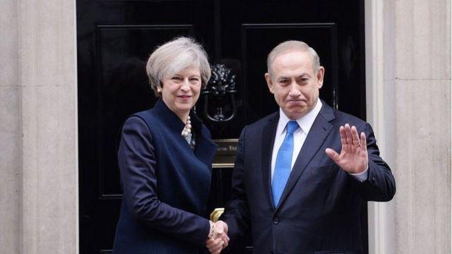 تيريزا ماي استقبلت نتنياهو في فبراير/شباط عندما كان في لندن