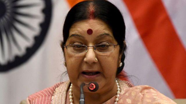 भारत की विदेश मंत्री सुषमा स्वराज