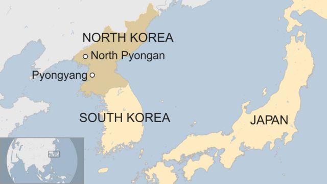 Map showing North Pyongan in North Korea
