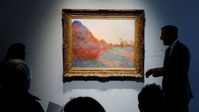 Monet Haystacks painting sells for record $110.7m