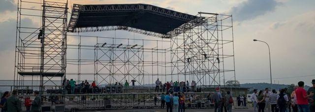 Maduro's concert stage