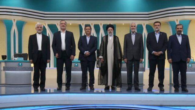 İran Cumhurbaşkanlığı seçimlerinin adayları TV tartışmasına katıldı.
