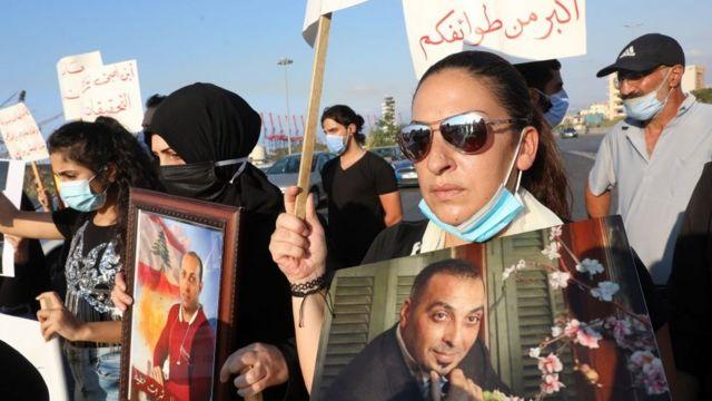 متظاهرون في ذكرى مرور شهرين على انفجار بيروت
