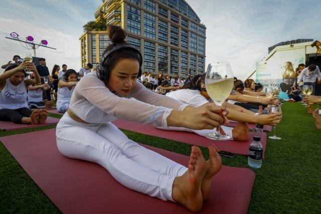 Silent Brew Yoga class in Bangkok