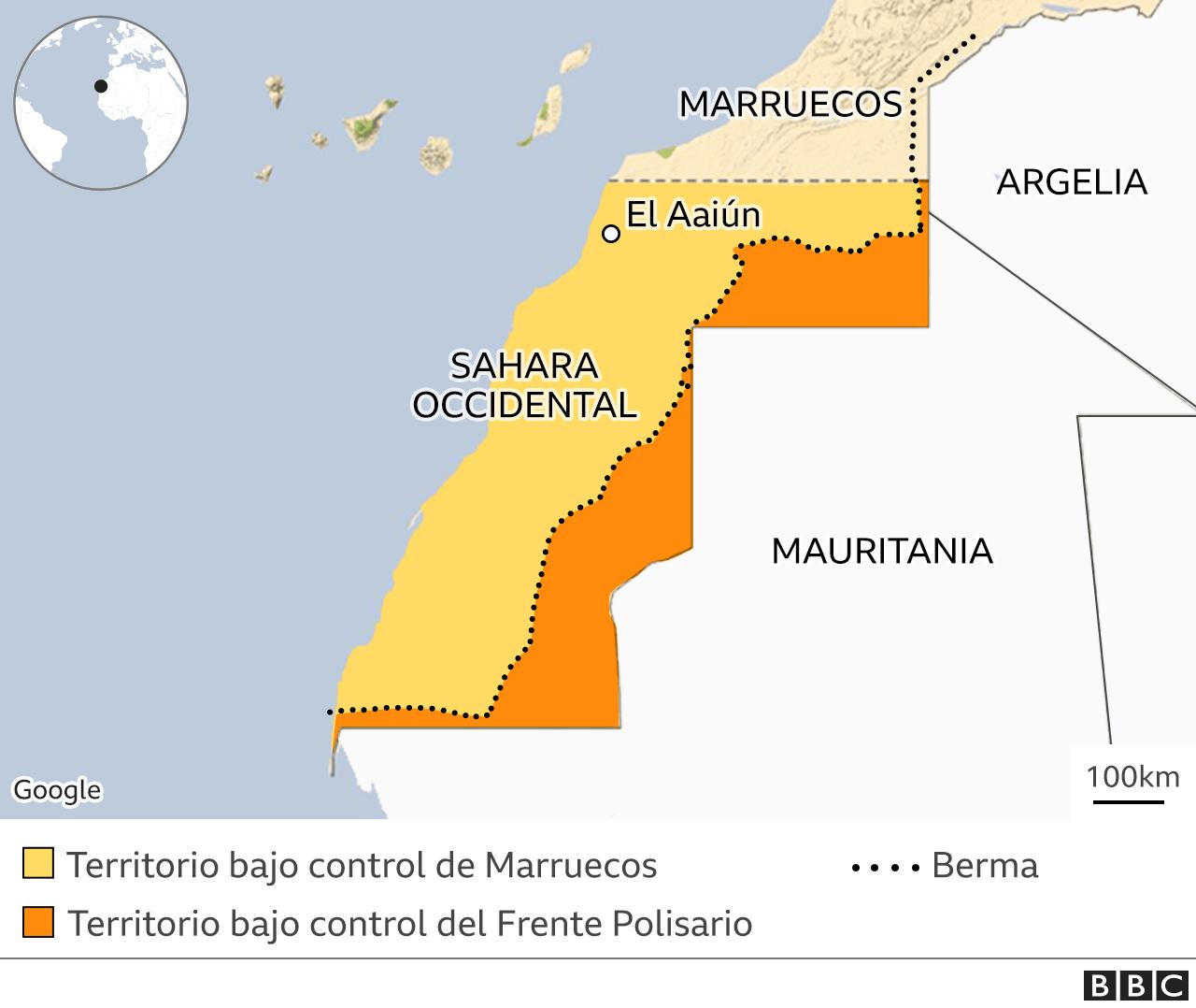 Sahara Occidental Map
