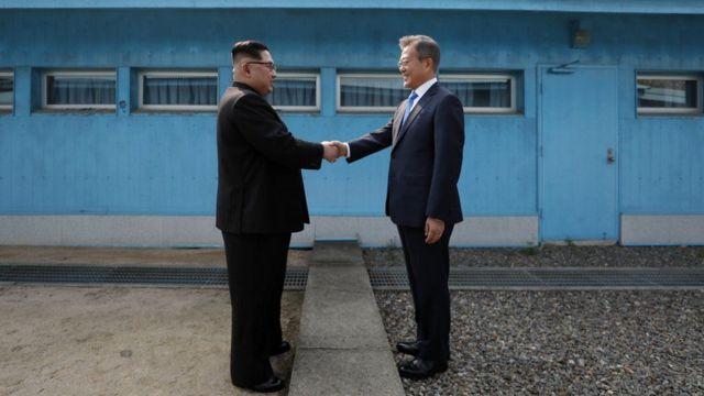 4월 남북정상회담 모습