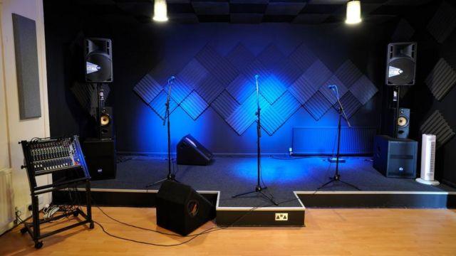 Müzik stüdyosu.