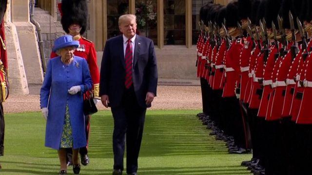 التقى ترامب وزوجته بالملكة في قصر وندسور