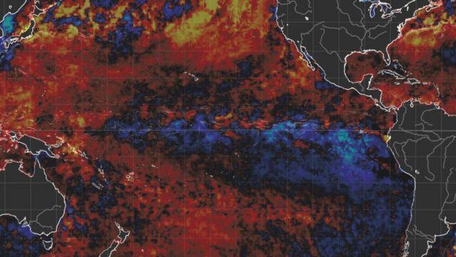 Imagem de satélite mostrando a formação do furacão
