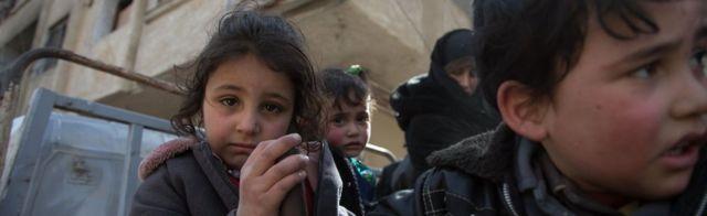 Children fleeing Eastern Ghouta