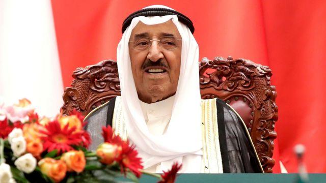 Şeyh Sabah el Ahmed el Sabah, 2006'dan bu yana Kuveyt'i yönetiyordu., 2018'de Pekin'de çekilen bir fotoğrafı