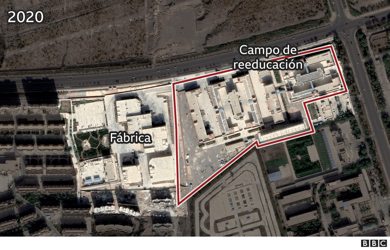 Mapa satelital del terreno