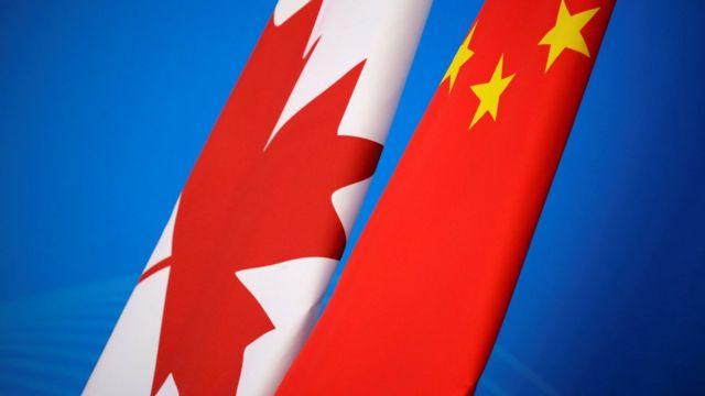 中國與加拿大國旗