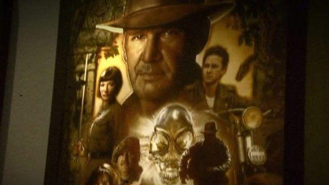 Indiana Jones poster at Cardiff Museum