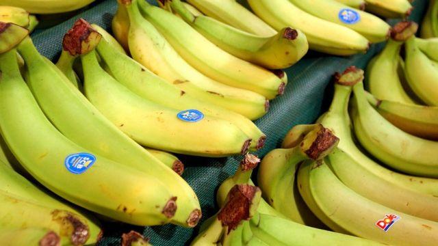 Bananas à venda no supermercado