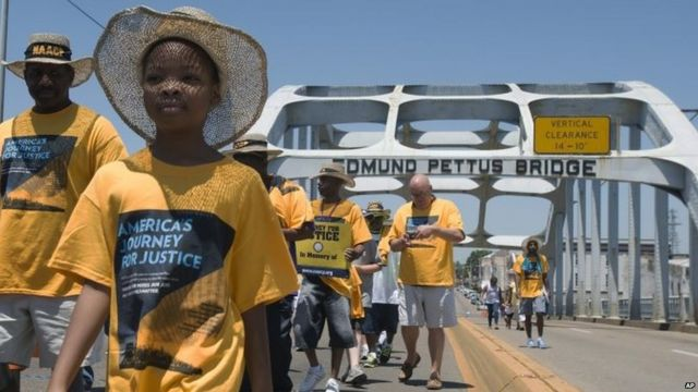 US civil rights march sets out from historic Selma