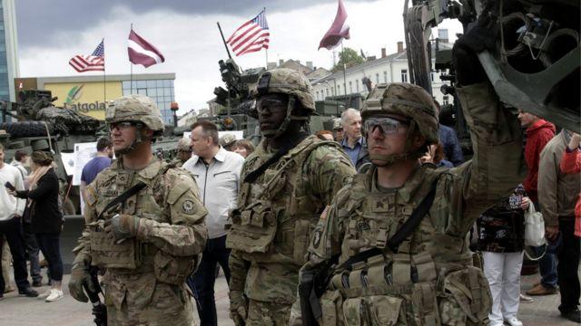 Американские военные в Латвии