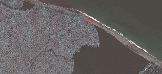 Imagen aérea del campamento militar de Nicaragua cercano a la frontera con Costa Rica en el Caribe