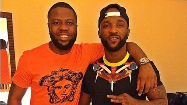 Hushpuppi and another Nigerian artist Inyanya