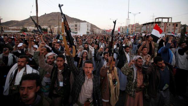 مظاهرات ضد السعودية في اليمن