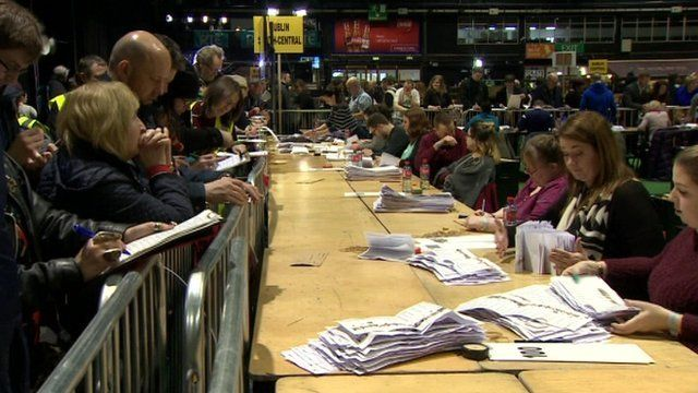 Counting in Irish election