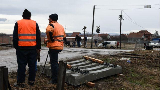 Postavljanje rampe na pružnom prelazu