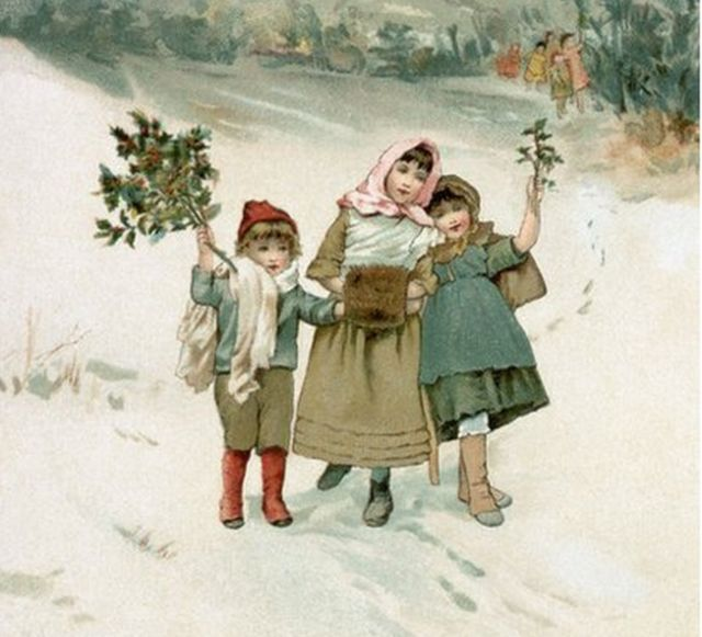 19th century English illustration about Christmas